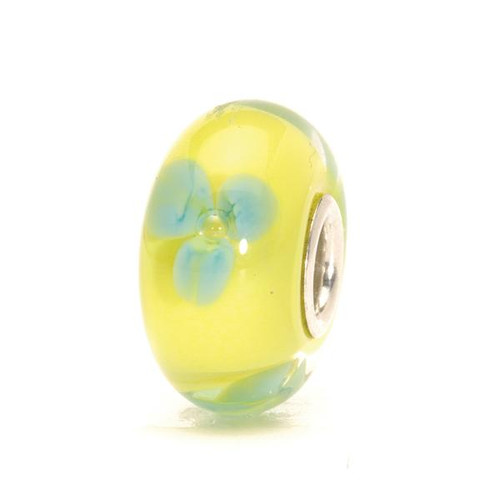 Trollbeads Glass Bead Turquoise Flower