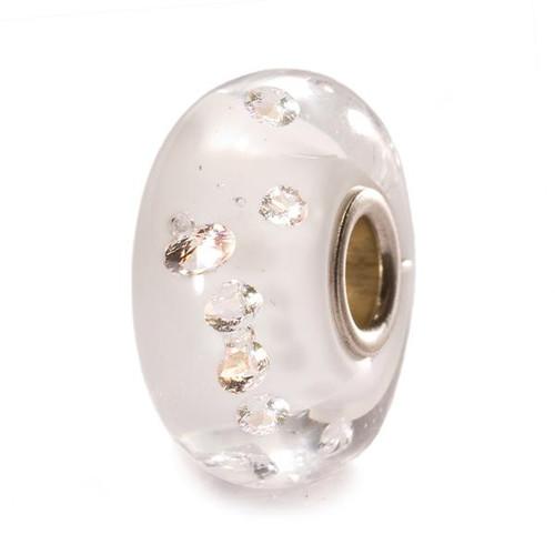 Trollbeads Glass Beads Diamond Bead White