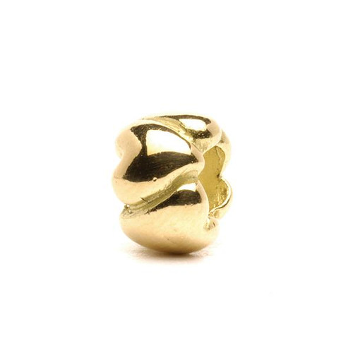 Trollbeads Gold Charm Hearts Small