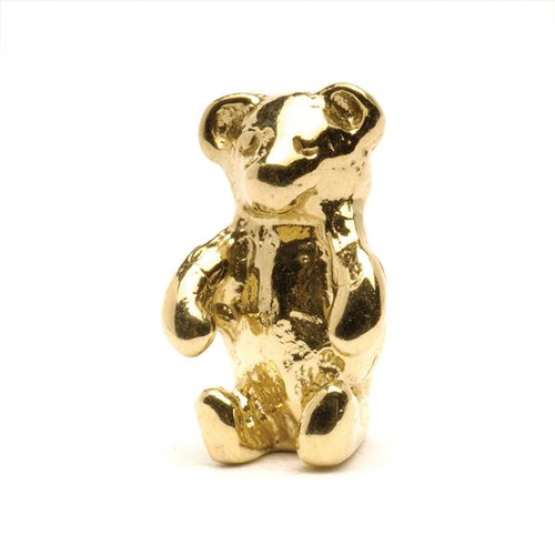 Trollbeads Gold Charm Teddy Bear