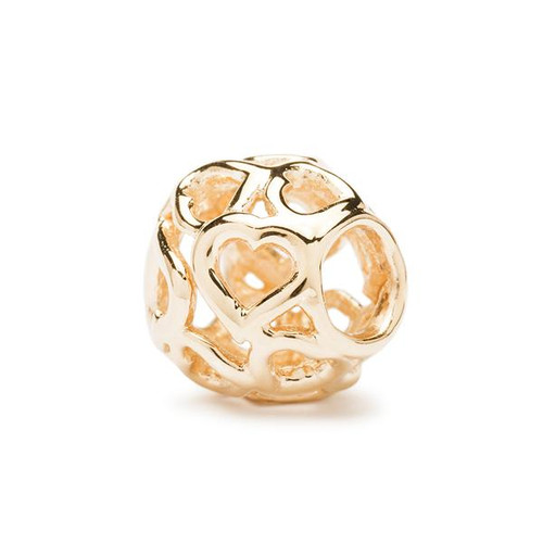 Trollbeads Gold Charms Bouquet of Hearts