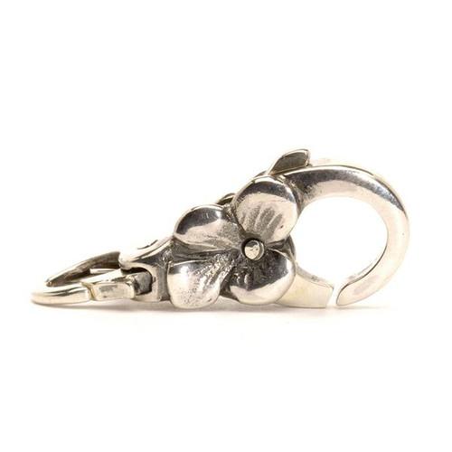 Trollbeads Flower Lock, sterling silver double sided clasp, fits Trollbeads bracelets.