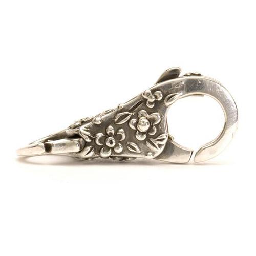 Trollbeads Lace Lock, Silver lock that fits Trollbeads bracelets.