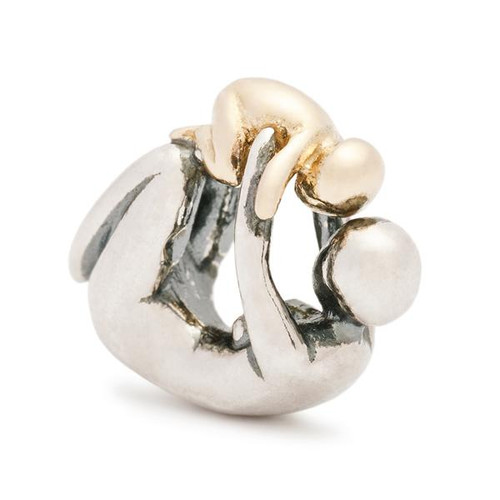 Trollbeads Maternity, Silver and Gold Charm