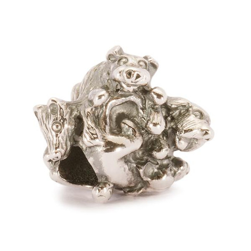 Trollbeads Silver Charm Family of Puppies 11335
