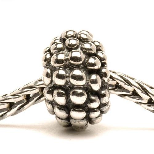 Trollbeads Silver Charm Large Berry on Troll Bracelet