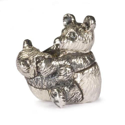 Trollbeads Silver Charm Panda