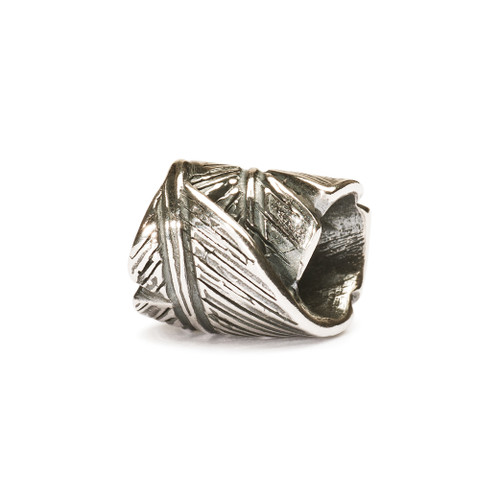 Trollbeads Charm Sterling Silver Feather
