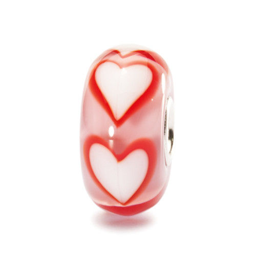 Trollbeads Glass Bead Asian Hearts