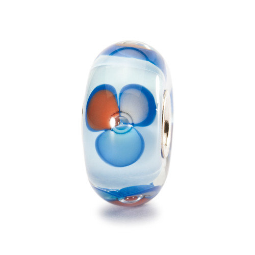 Trollbeads Glass Bead Blue Fantasy