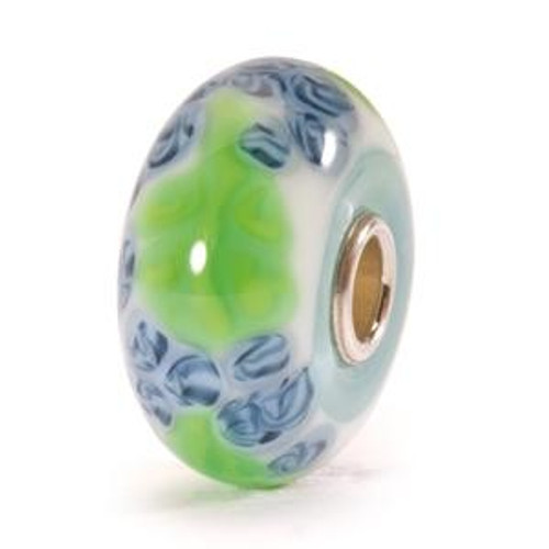 Trollbeads Glass Bead Blue Flax