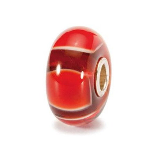 Trollbeads Glass Bead Red Symmetry