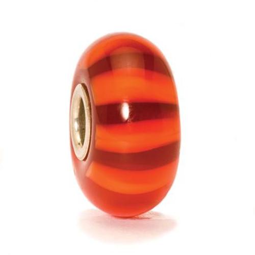Trollbeads Glass Bead Red Stripe