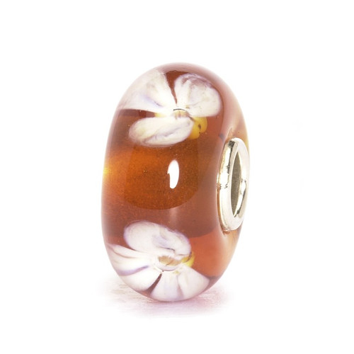 Trollbeads Glass Bead Beige Flower