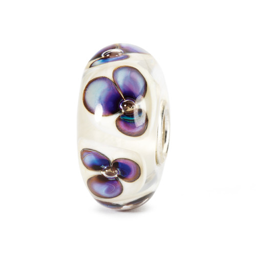 Trollbeads Glass Bead Ivory Violets