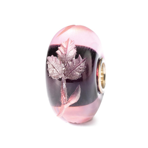 Trollbeads Glass Beads Engraved Fuchsia