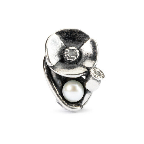 Trollbeads Silver Charms Poppies of August