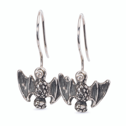 Trollbeads Happy Bat Earrings on Hooks