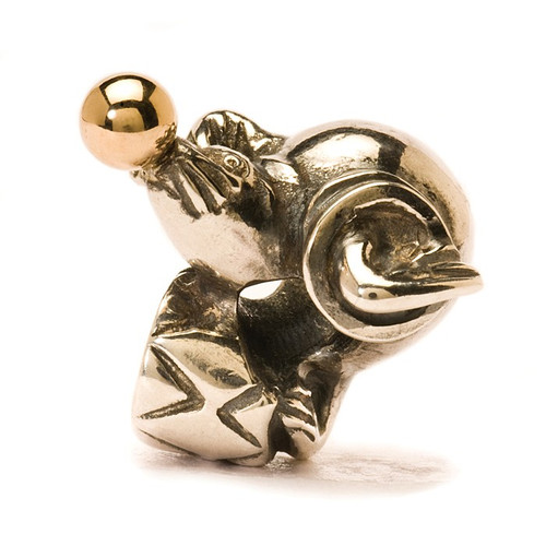 Trollbeads Sea Lion, Silver and Gold