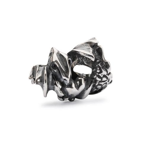 Trollbeads Love Dragon Bead, Silver