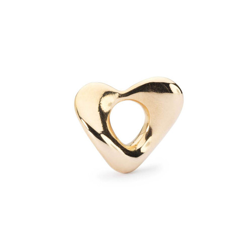 Trollbeads Soft Heart Gold, Small