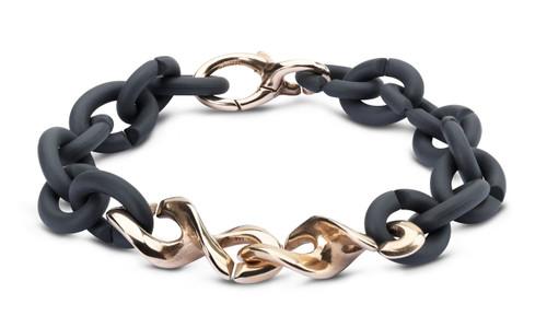X Jewelry, Graphite Grey DNA Bracelet