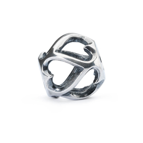 Trollbeads Opposites Attract Silver Charm