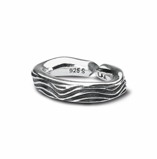 Trollbeads X Jewelry, Wave silver link Side View