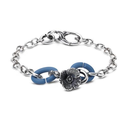 X Jewellery Blue Poppy Chain Bracelet