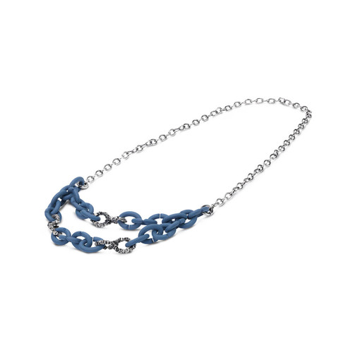 X Jewellery Bold Blue Chain Necklace