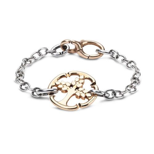 X Jewellery Golden Tree Chain Bracelet