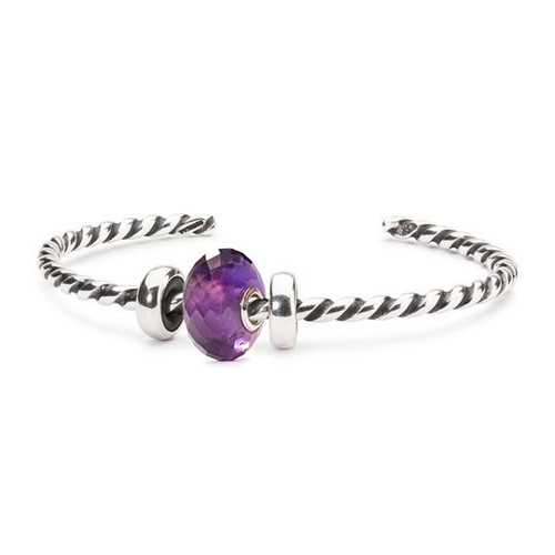Trollbeads Amethyst Twisted Bangle