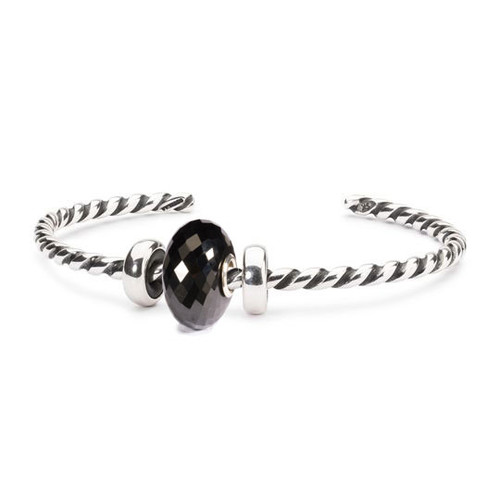 Trollbeads Black Onyx Twisted Silver Bangle