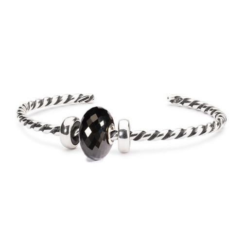 Trollbeads Black Onyx Twisted Silver Bangle