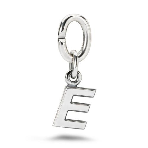 X Jewellery Letter E, Silver Charm