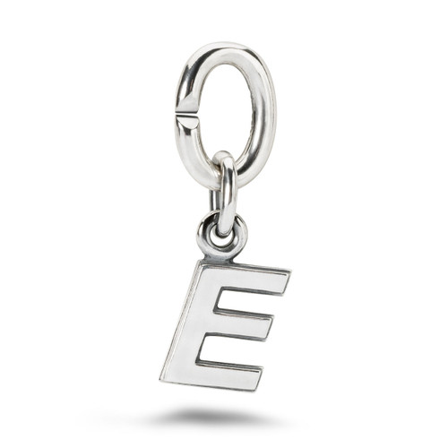 X Jewellery Letter E, Silver Charm