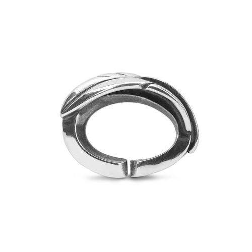Trollbeads X Jewellery, Light Feather Single Silver Link
