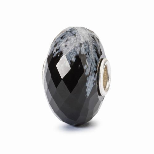 Trollbeads Snowflake Obsidian Facet
