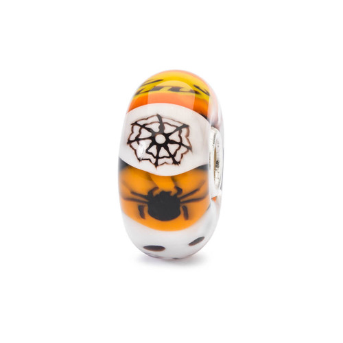 Trollbeads Get Spooky Glass Bead with Spider Web