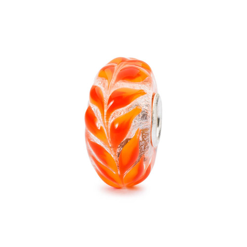 Trollbeads Glass Bead Golden Foliage