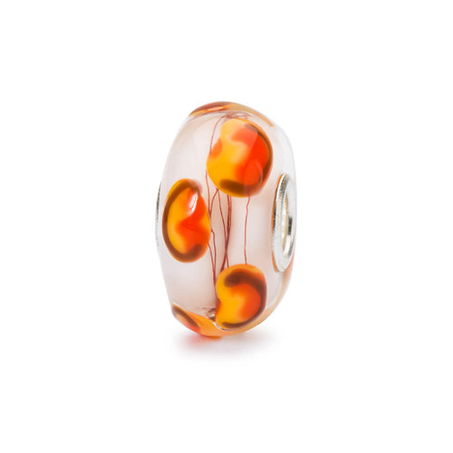 Trollbeads Golden Poppies Glass Bead