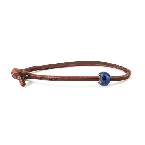 Trollbeads Round Lapis Lazuli Leather Bracelet