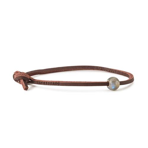 Trollbeads Round Labradorite Leather Bracelet