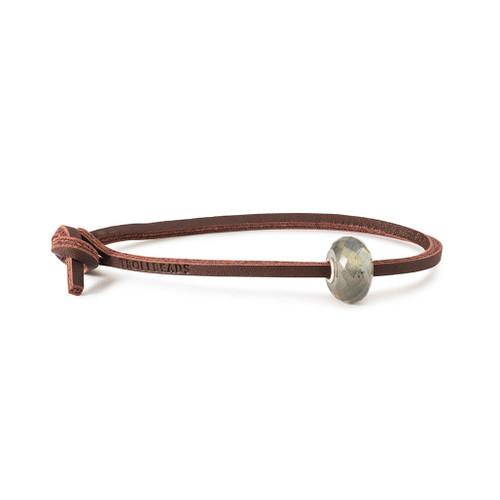 Trollbeads Labradorite Leather Bracelet