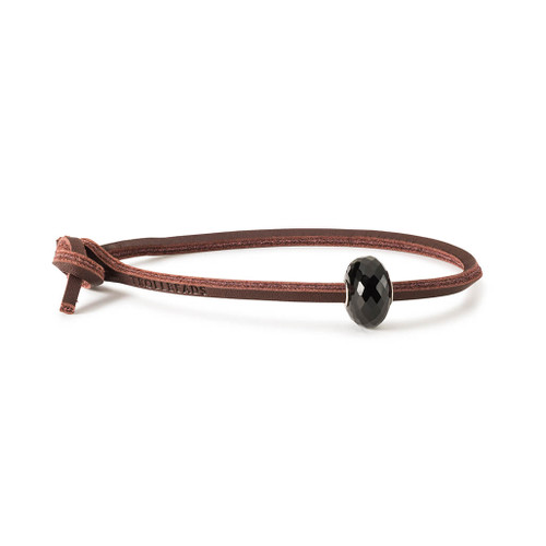 Trollbeads Black Onyx Leather Bracelet