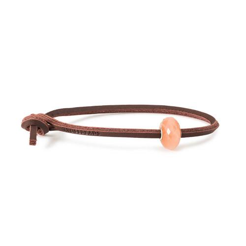 Trollbeads Feldspar Moonstone Leather Bracelet