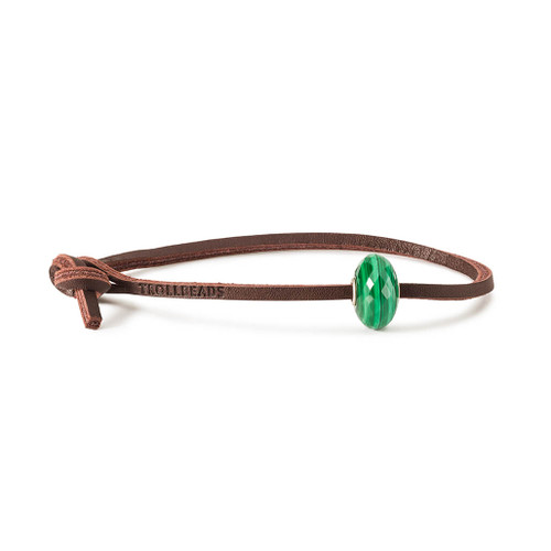 Trollbeads Malachite Leather Bracelet