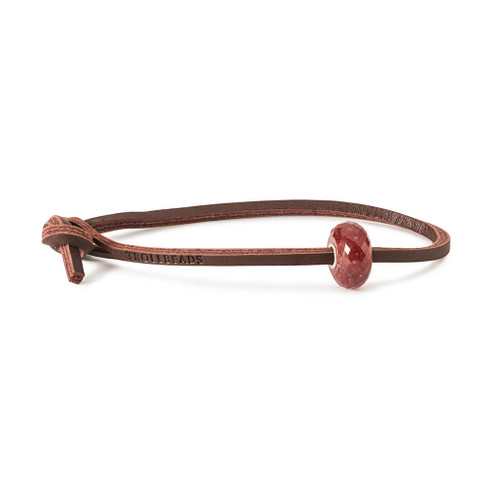 Trollbeads Strawberry Quartz Leather Bracelet