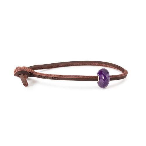 Trollbeads Amethyst Leather Bracelet