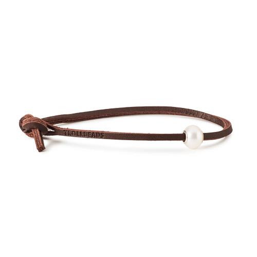 Trollbeads White Pearl Leather Bracelet